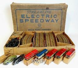 Marx, Streamline Electric Speedway, 1933, F. A. O. SCHWARZ Store N. Y, Very RARE