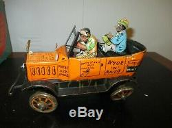 Marx Tin Working Windup Amos n Andy Fresh Air Taxi