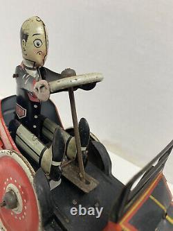 Marx Tin-litho Wind-up Coo-coo Car Working