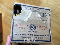 Marx Toys Walking Popeye, Wind Up Tin Toy with Original Box