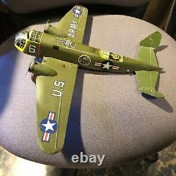 Marx Windup Tin Litho U. S. Army Fighter Plane LQQK