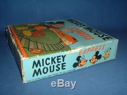 Marx Working Windup Mickey Mouse Express, Original Box