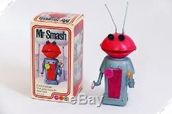 Marx Yonezawa Cragstan Mr Smash Martian Wind-up Japan Vintage Robot Space Toy