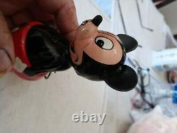 Mickey mouse wind up Marx Tin toy Japan Linemar co. 40's/50's Minty works