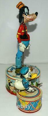 N. Mint Disney1946 Donald Duck Duettin Wind-up Marx Action Toy+new Replica Box