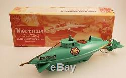 Nautilus Windup Toy Submarine Clockwork Disney 20,000 Leagues Under The Sea NOS