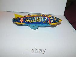 Neat Vintage Marx Tin Wind Up Toy Tom Corbett Space Cadet Polaris Rocket Ship