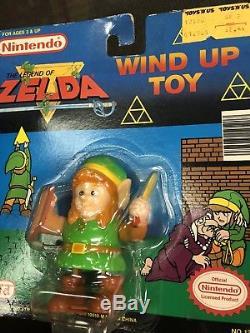 New1989 Nes Nintendo Link Legend Of Zelda Wind Up Walking Toy Vintage Rare