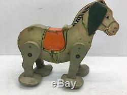 Nice Vintage 1931 Fisher Price No. 350 Go-N-Back Mule Wind-up Pull