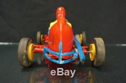 Nosco Plastic Race Car Wind Up Racer Toy From The 50s 60s Vintage