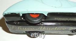 ORIGINAL VINTAGE 1940's SCHUCO AKUSTICO 2002 TIN WIND-UP KEY SKY BLUE BMW 328