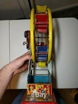 Ohio Art Ferris Wheel Tin Wind Up Toy (The Giant Ride)