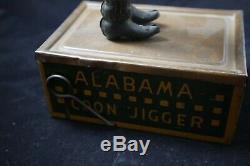 Original Antique Ferdinand Strauss Tin Wind Up Tombo The Alabama Coon Jigger
