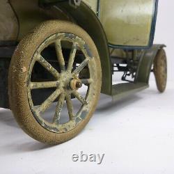 Original George CARETTE 12 Clockwork Tin Litho Limousine Toy Car gunthermann