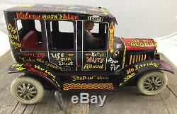 Outstanding Condition Marx 1950s Wind-Up Tin Lithographed Old Jalopy Toy