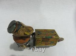 POPEYE Baggage Express Marx Tin Wind-Up Toy WORKS