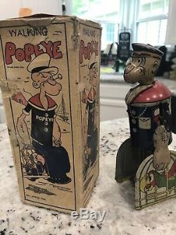 Popeye- Vintage Wind Up Popeye With Parrot