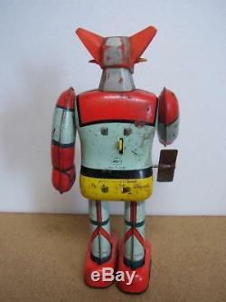 Popy Tin Toy Robot Vintage Getter 1 Wind Up Very Rare Japan Collectible Bandai
