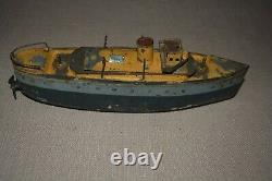 Prewar Ives Train Company Windup Toy Boat Vintage Original