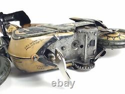 RARER Vintage US Zone Germany CKO 353 Kellerman SOZIUS Motorcycle Tin Windup Toy