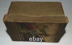 RARE BOXED ORIG. SETDISNEY 1930'sDONALD DUCK CYCLISTWIND-UP TOY-ENGLISH MARKET