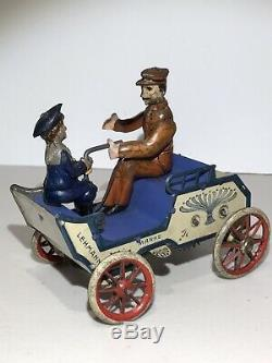 RARE LEHMANN CAR # 495 NAUGHTY BOY TIN LITHO WIND UP TOY MADE IN GERMANY 1900s