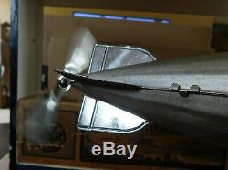 RARE MARX 30S TRANS ATLANTIC TIN 16 FLYING ZEPPELIN WIND UP PROPELLER With BOX