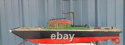 RARE VINTAGE 1930S ORKIN CRAFT WIND UP BOAT. Rare body style