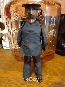 RARE Vintage 1903 Lehmann Dancing Sailor Clockwork Windup Tin Toy Man Germany