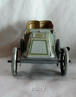 RARE c. 1910 GEBRUDER BING'RUNABOUT' TIN WIND-UP TOY IN WORKING CONDITION