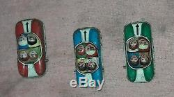 ROLLER COASTER vintage toys rare tin & 3 cars litho wind up made in germany