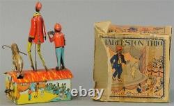 Rare 1920's Louis Marx Charleston Trio Wind-up Tin Toy With ORIGINAL BOX