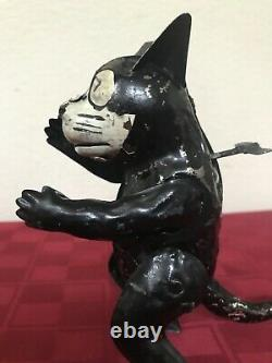 Rare 1930's Gunthermann Tin Wind-up FELIX The Cat Toy Working