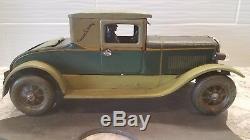Rare 1930's Karl BUB KB Large Tin Wind-up Schooner Car