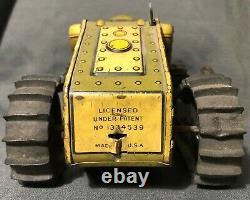 Rare 1940's Marx Tank Corps 12 Wind Up Tin Army Tank Presents Beautiful Works
