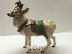Rare Antique German Clockworks Reindeer Christmas Display Nodder Windup Vtg Toy