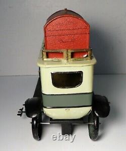 Rare Antique (H. E. N.) Large Early German Hans Eberl Limousine Tin Toy Car 14L