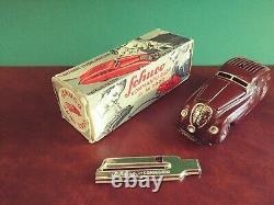 Rare BROWN 1930's Schuco 2000 Kommando Tin Wind-up Maybach with Or. Box Tinplate