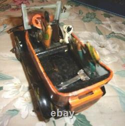 Rare Old Vintage Louis Marx Wind Up Fresh Air Taxi Cab Working Condition 1930's
