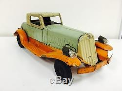Rare Original VTG Girard Pierce Arrow Car Coupe Roadster Pressed Steel Toy