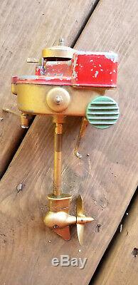 Rare Orkincraft Windup Toy Outboard Motor