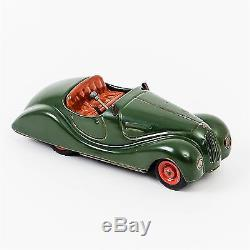 Rare Schuco Examico 4001 Windup Metal Car Green Original Vintage Works! Germany
