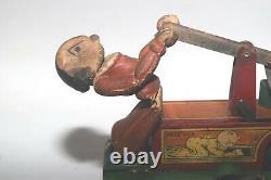 Rare Vintage 1930's Marx Toys Popeye Handcar withOlive Oyl