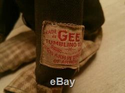 Rare Vintage Antique 1918 Charlie Chaplin Gee Tumbling Toys Wind Up Toy Gund