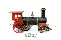 Rare Vintage Antique Ives Nero Wind-up Clockwork Floor Train Locomotive 1880's