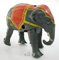 Rare Vintage Early Jumbo Elephant German Wind Up Tin Toy D. R. G. M. Germany See