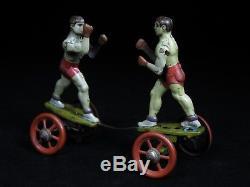 Rare Vintage Einfalt Clockwork Wind Up Tin Boxers Toy Joe Louis Jake Lamotta