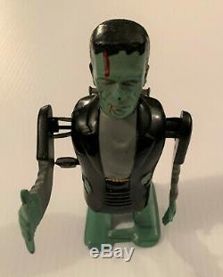 Rare Vintage FRANKENSTEIN Mechanical Wind Up Tin & Plastic Toy Monster by MARX
