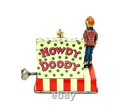 Rare Vintage Linemar Mechanical Clarabell & Howdy Doody Piano Tin Windup Marx