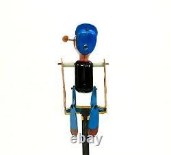 Rare Vintage Linemar Popeye Acrobat Tin Windup Toy Marx
